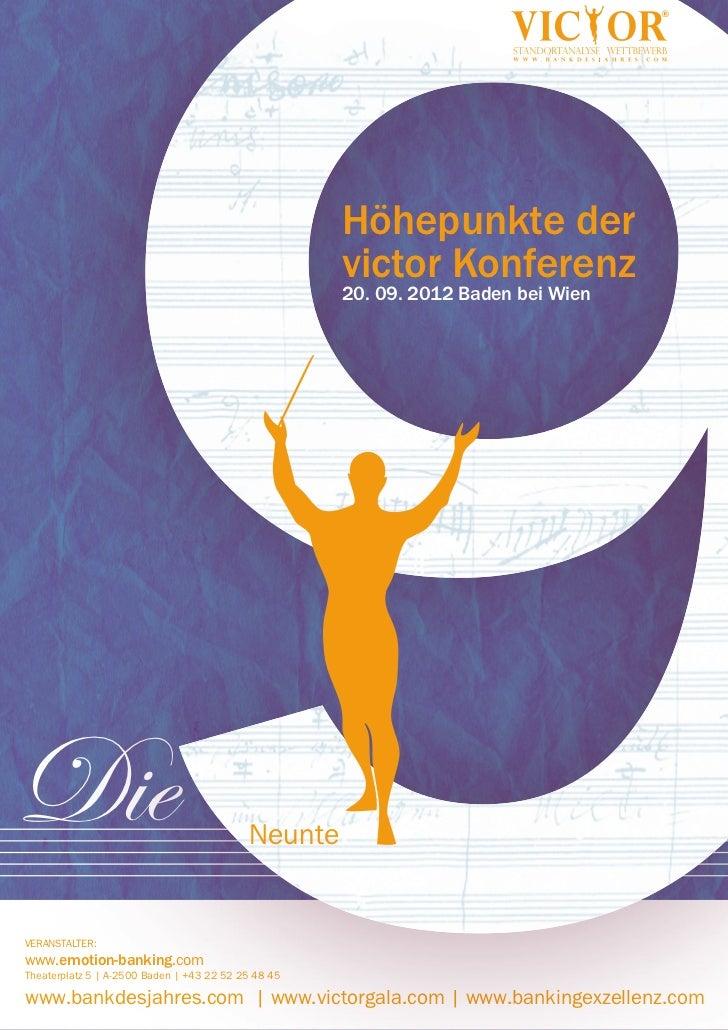 Newsletter 8 - victor Konferenz 2012