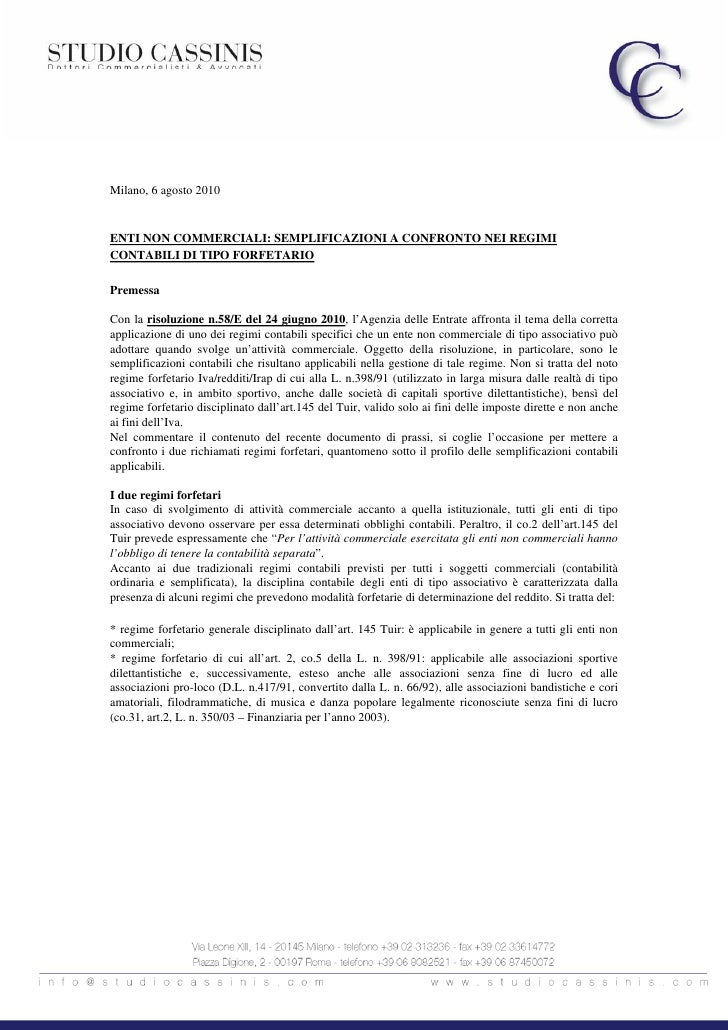 Newsletter fiscale agosto 2010