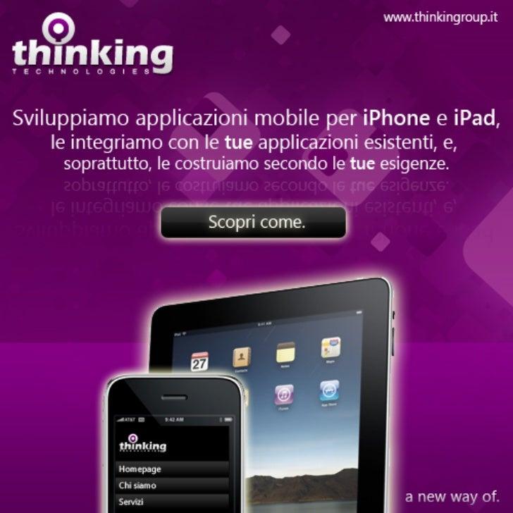Sviluppiamo applicazioni per iPhone e iPad