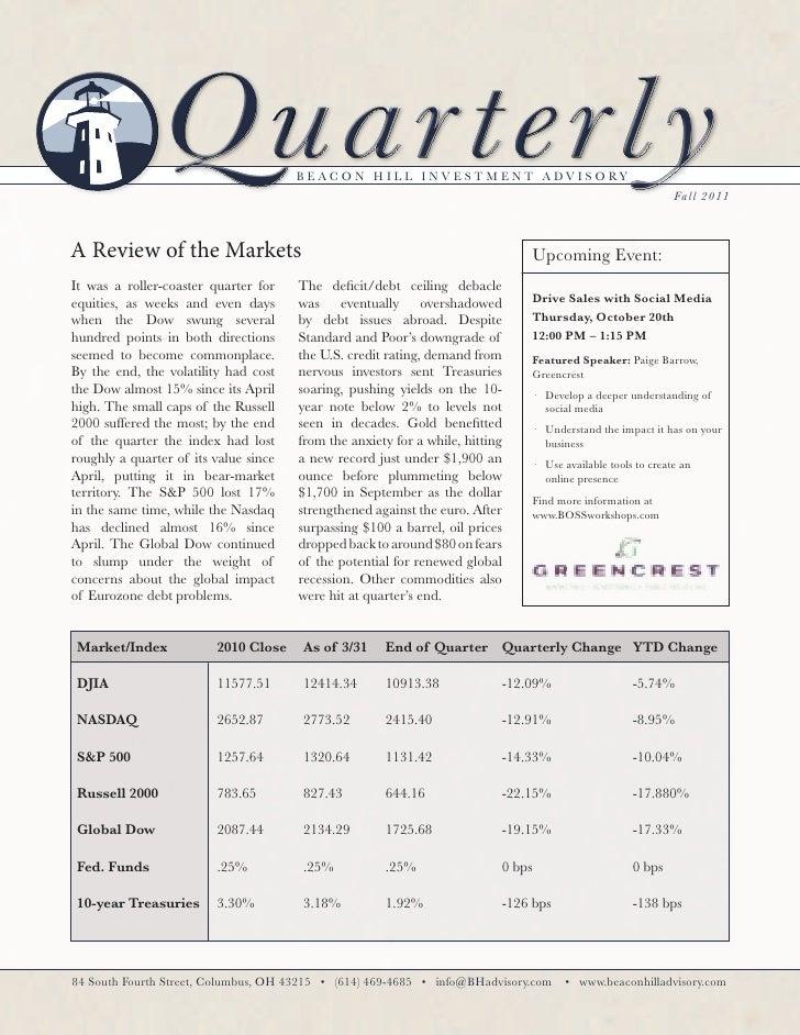 Fall Newsletter 2011 (Business)