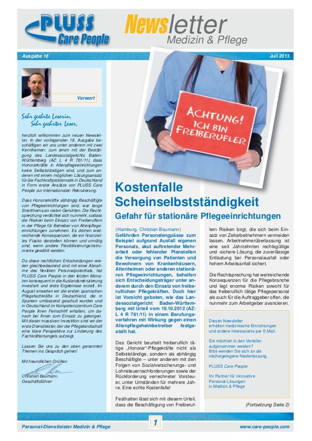 Newsletter Pluss Care People Vol. 18