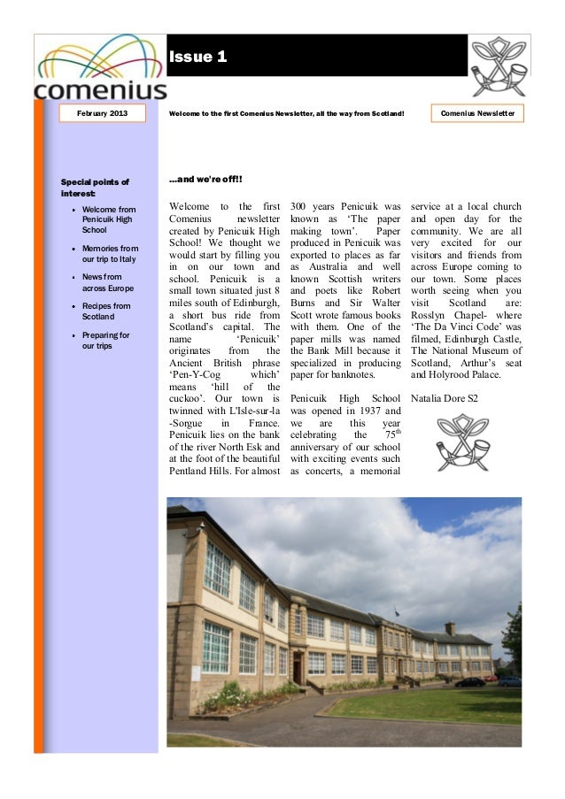Newsletter comenius 1 (scotland)