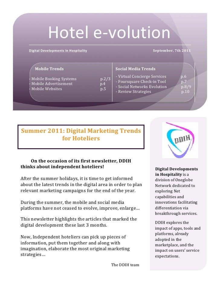 Hotel e-‐volution                      Digital Development...