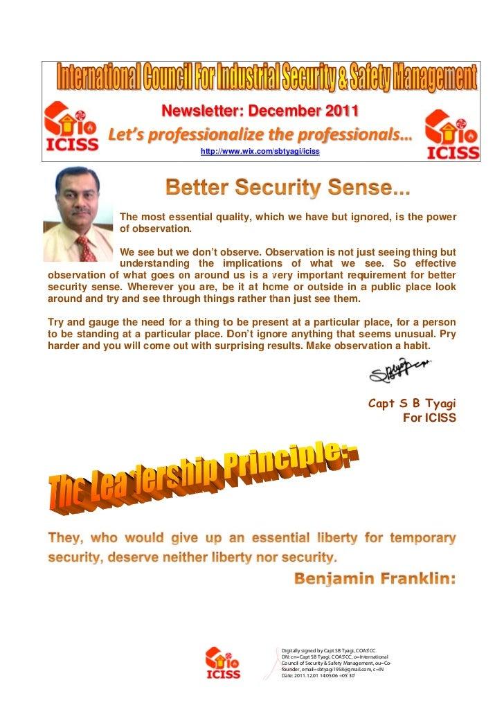 ICSSM Newsletter Dec11