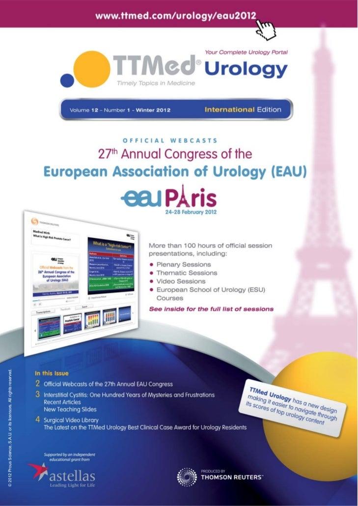 TTMed Urology Newsletter EAU Congress Paris2012