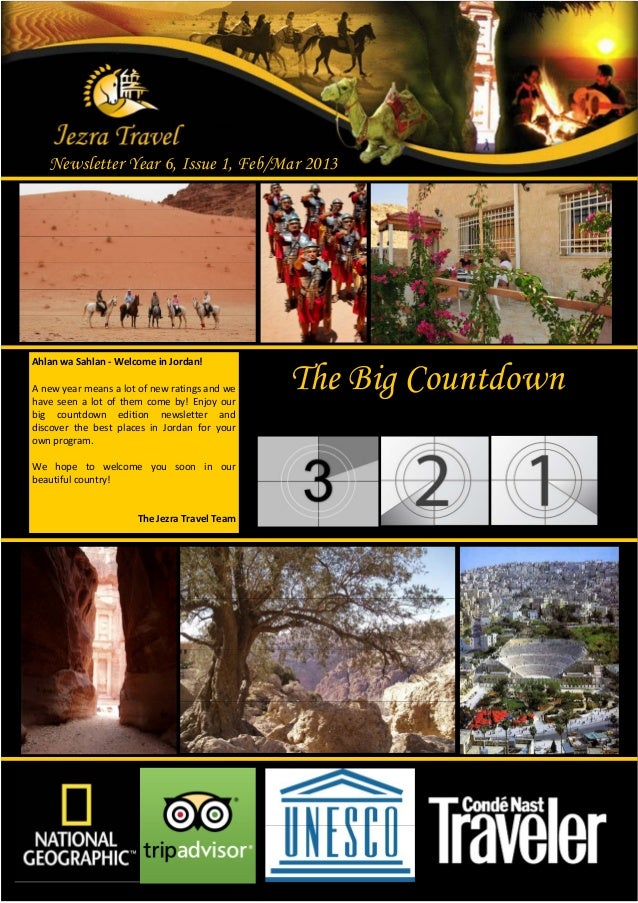 Newsletter Year 6, Issue 1, Feb/Mar 2013Ahlan wa Sahlan - Welcome in Jordan!A new year means a lot of new ratings and weha...