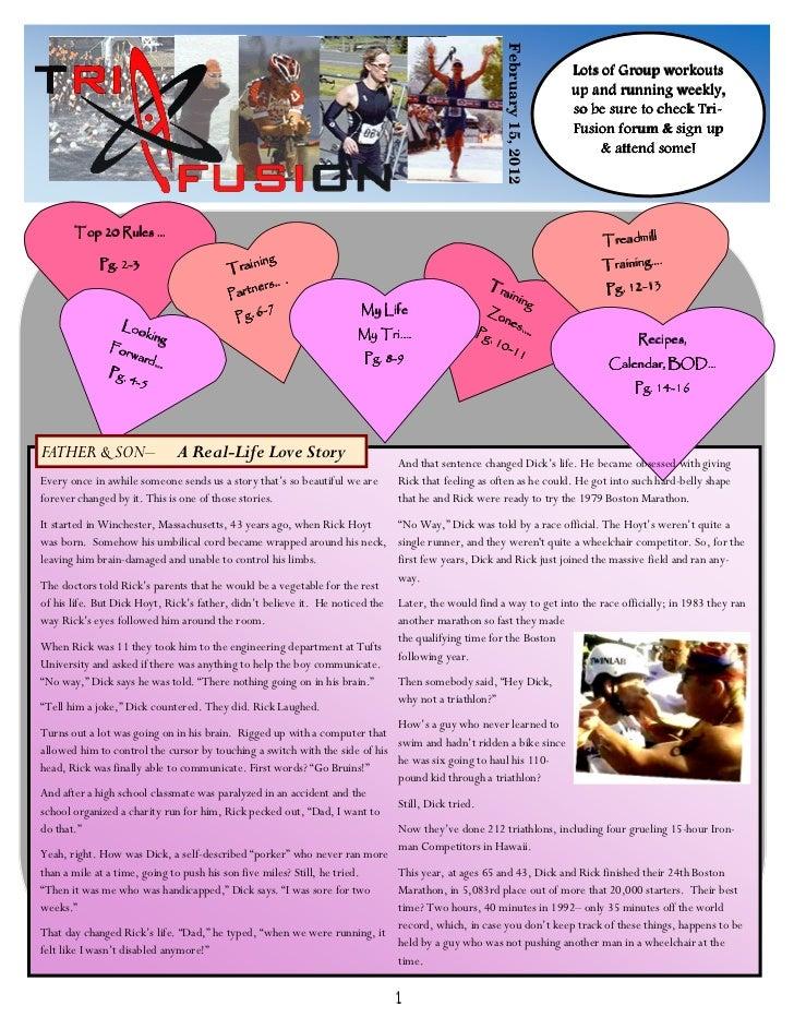 Newsletter Feb. '12