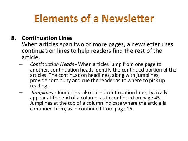 How to write a good newsletter article