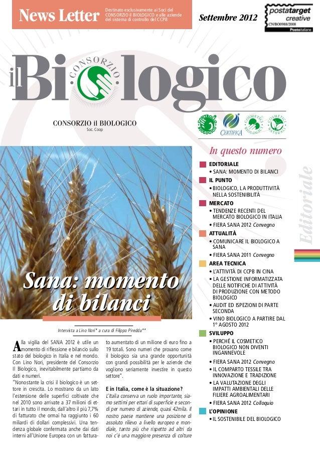 Newsletter Il Biologico  2012 settembre
