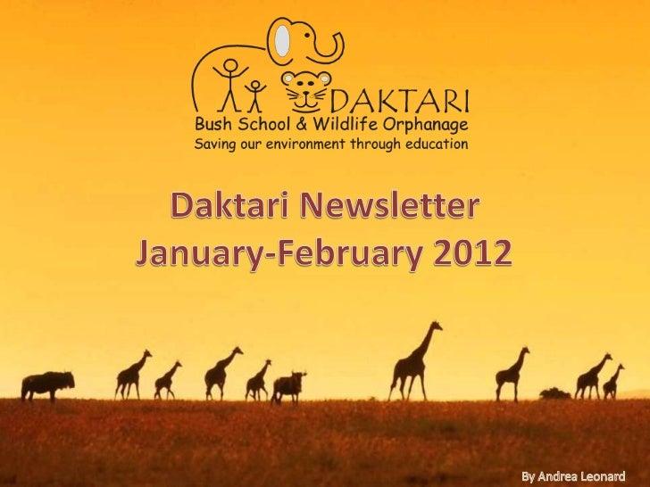 Daktari Newsletter January-February 2012