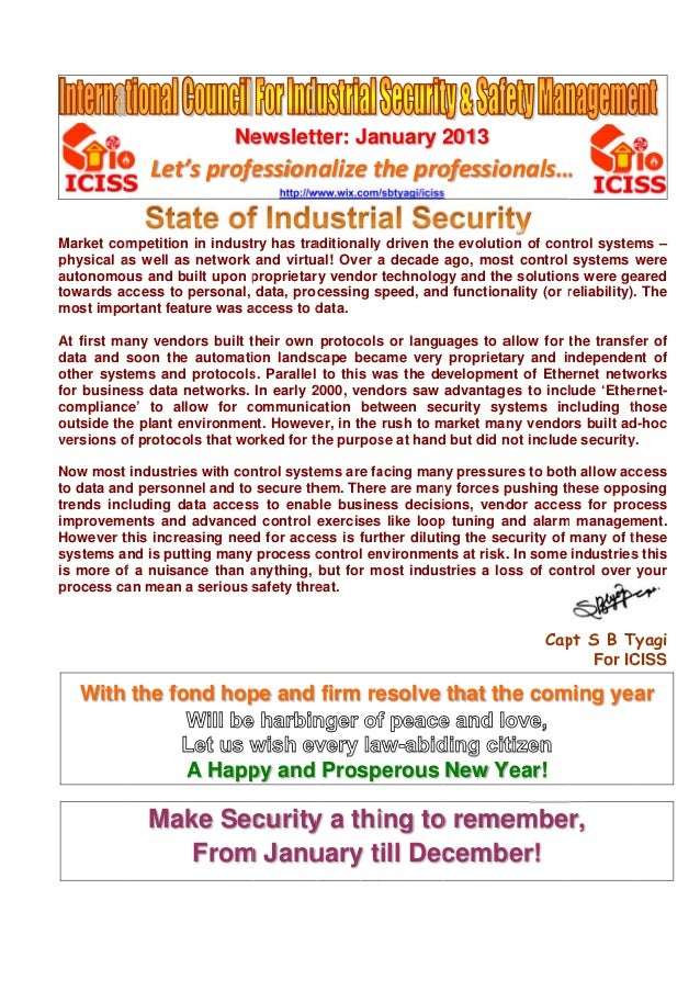 News letter jan 13