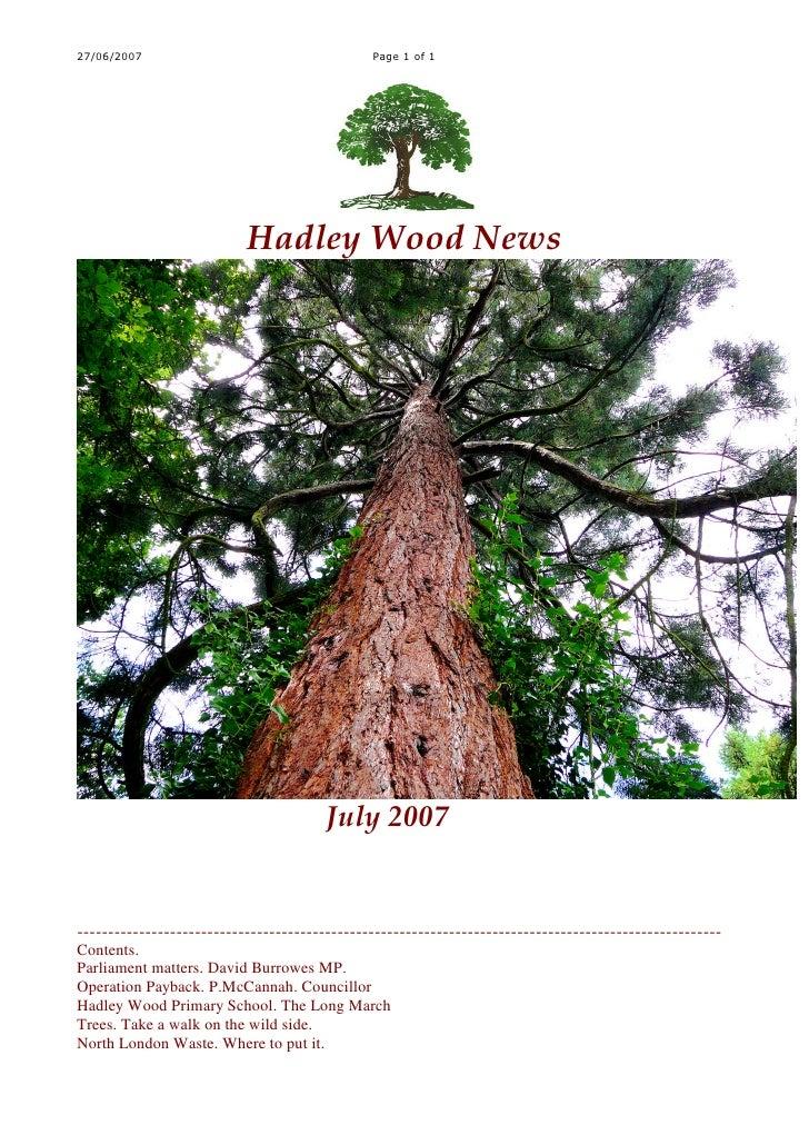 27/06/2007                                     Page 1 of 1                                Hadley Wood News                ...