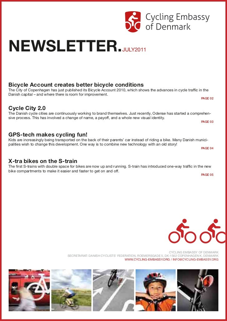 NEWSLETTER.                                                        JULY2011Bicycle Account creates better bicycle conditio...