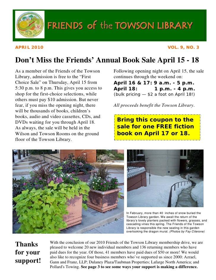 Newsletter: Library April 2010