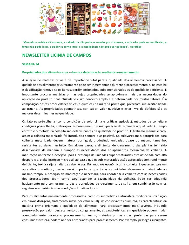 Newsletter licinia de campos 34   armazenamento de alimentos crus