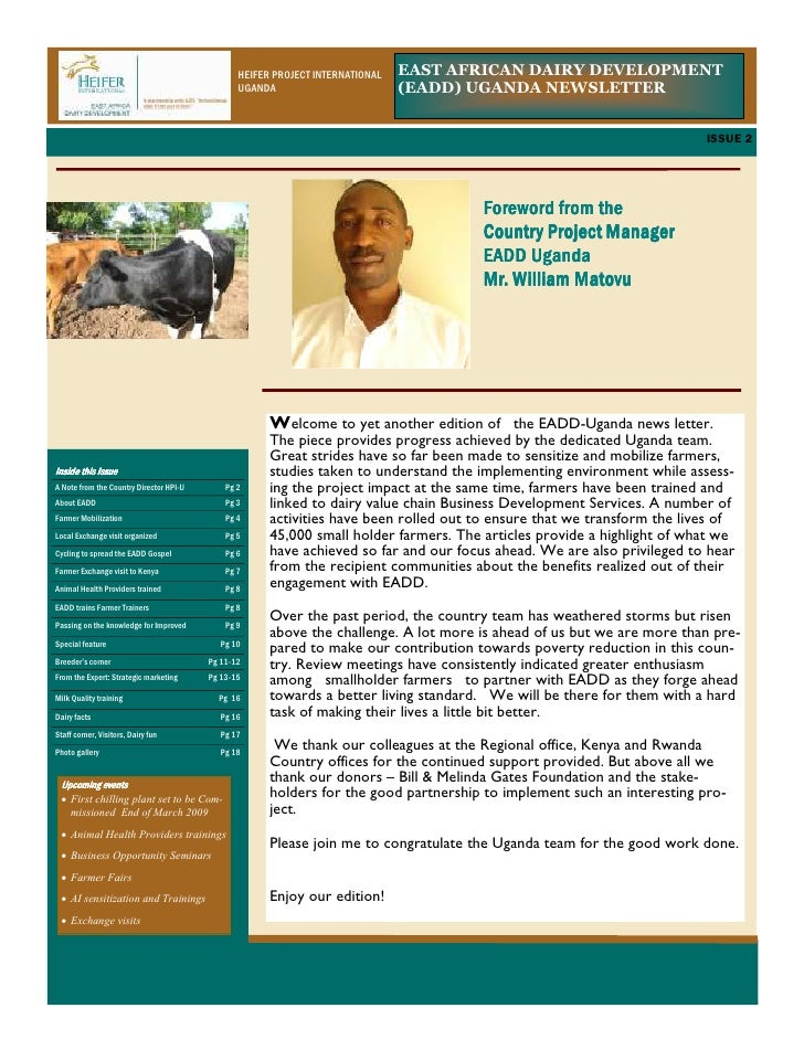 HEIFER PROJECT INTERNATIONAL   EAST AFRICAN DAIRY DEVELOPMENT                                                 UGANDA      ...