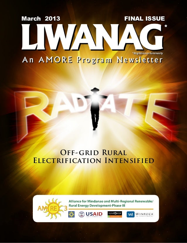 LIWANAG An AMORE Program Newsletter, March 2013