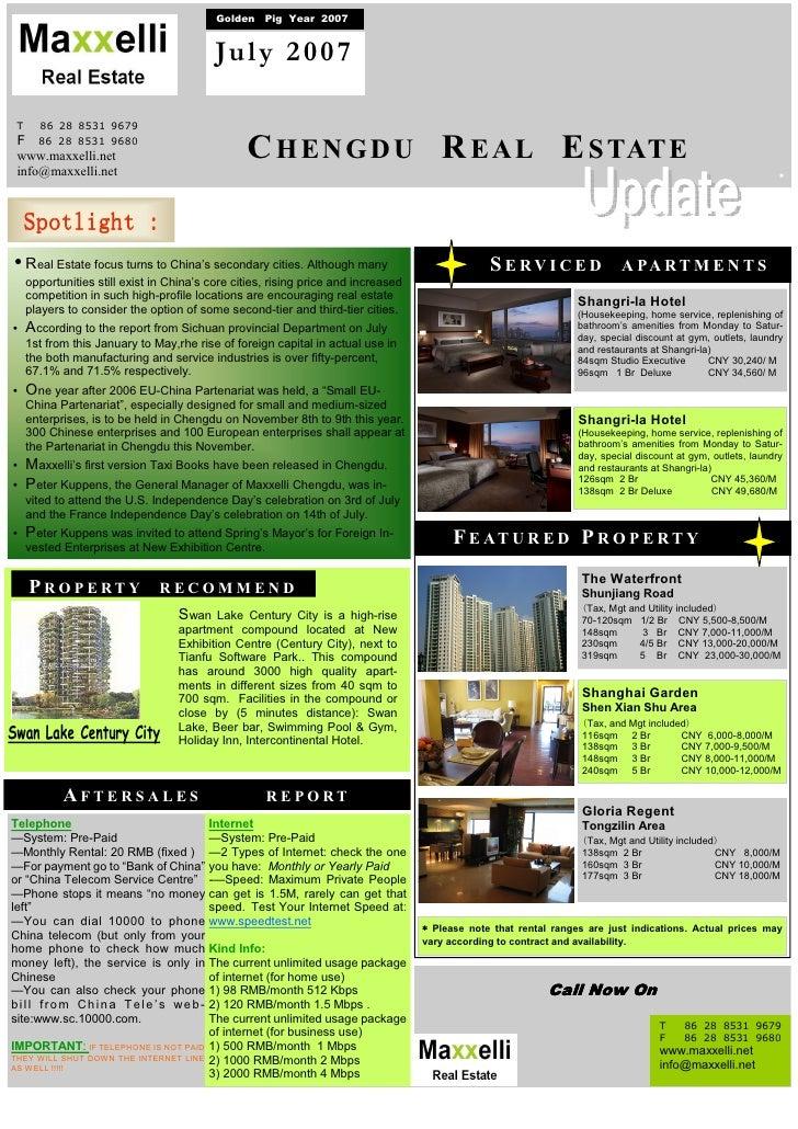 Newsletter Maxxelli Chengdu July 2007