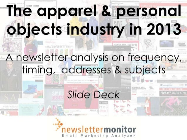 Newsletter analysis - The apparel & personal objects industry in 2013