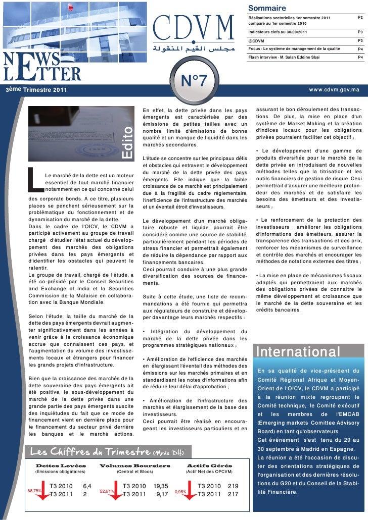 Réalisations sectorielles 1er semestre 2011      P2                                                                       ...