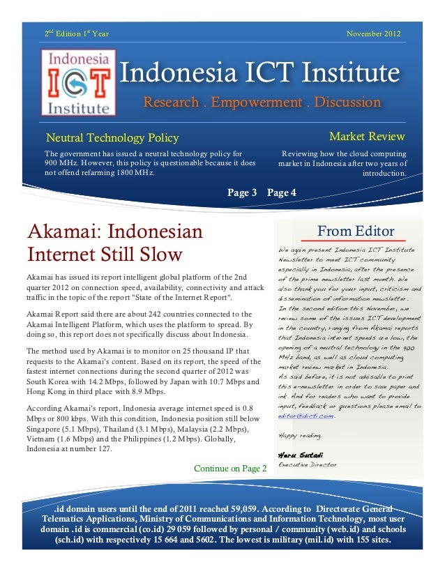 Indonesia ICT Institute Newsletter November Edition  - in English