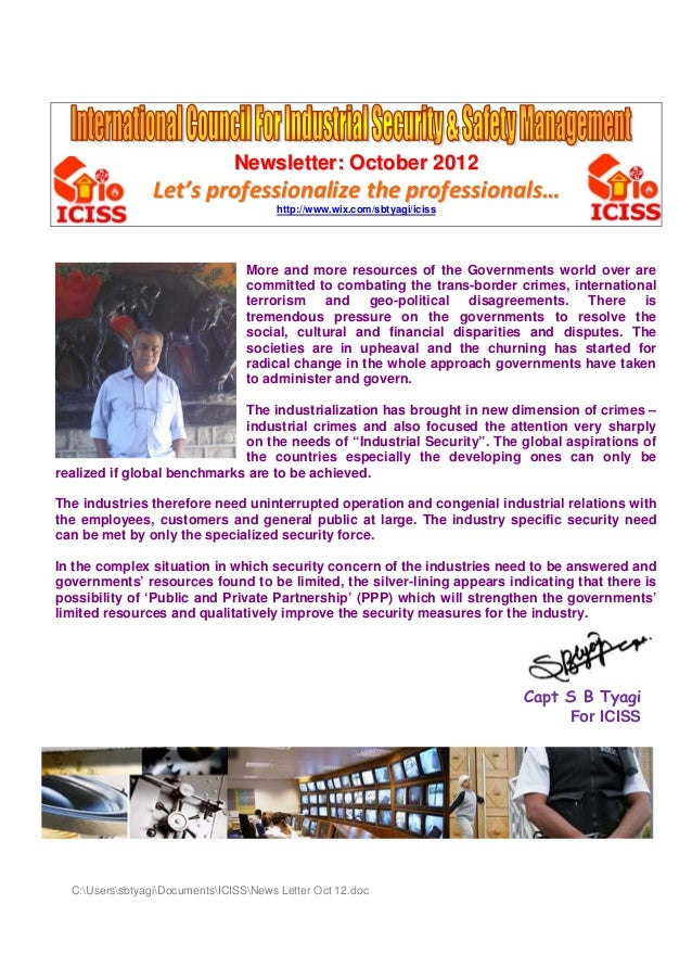 Newsletter: October 2012                 Let's professionalize the professionals…                                        h...