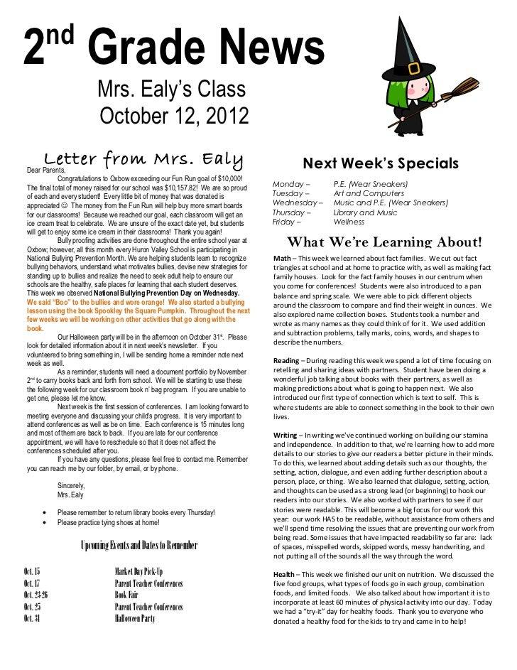 Newsletter oct 12, 2012