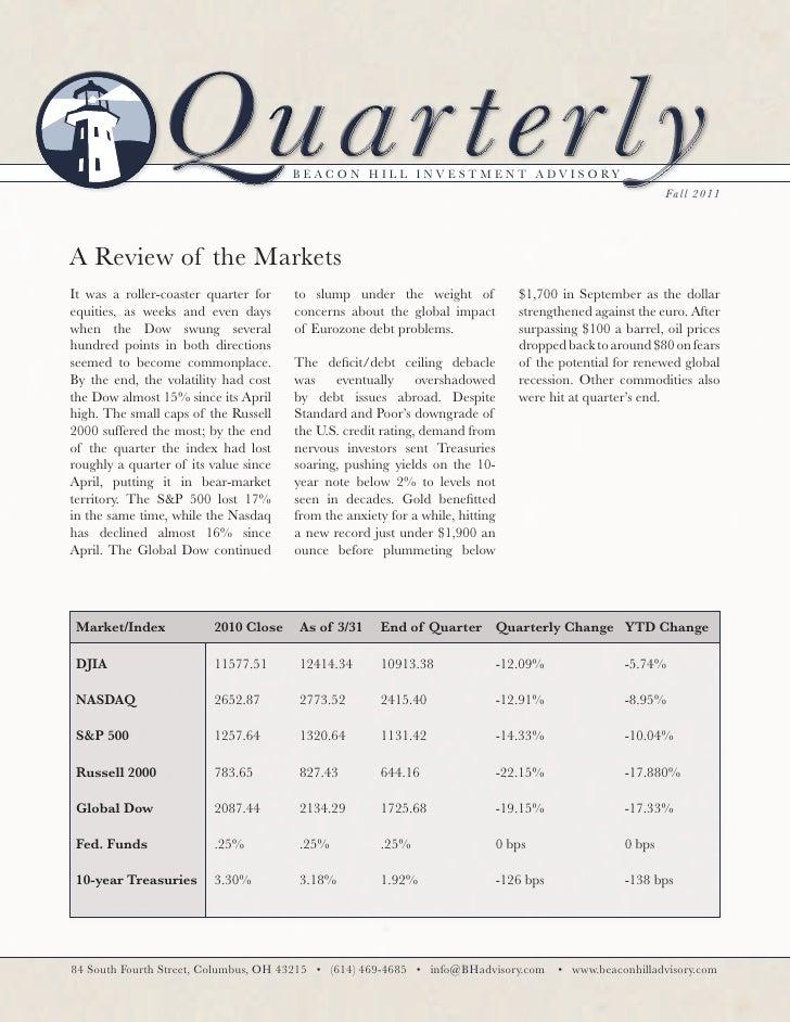 Fall Newsletter 2011
