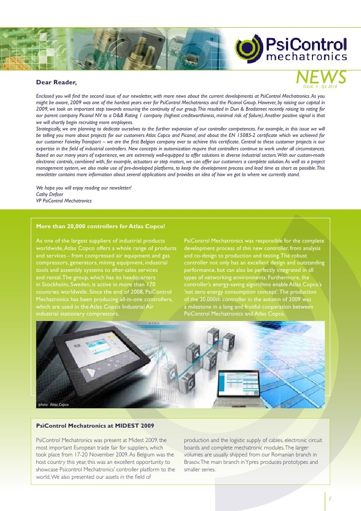 Newsletter PsiControl Mechatronics 2