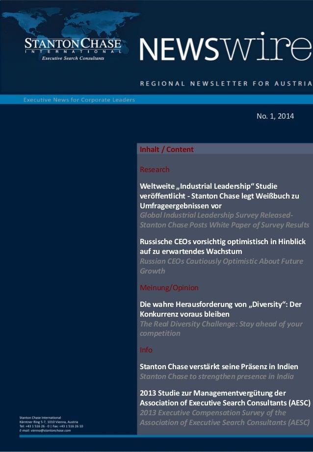 Regional newsletter for Austria No.1, 2014