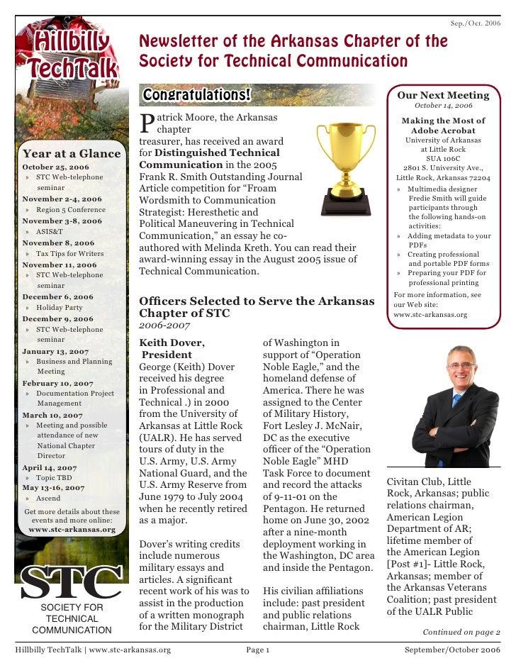 Sep./Oct. 2006      Hillbilly                    Newsletter of the Arkansas Chapter of the                                ...