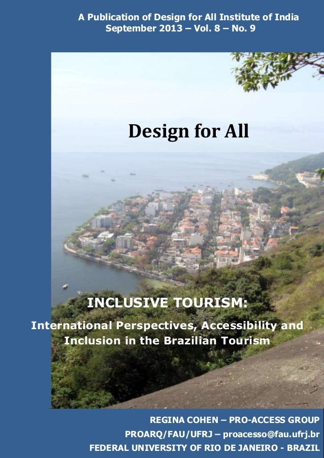 Inclusive Tourism in Brazil: Design for All India September 2013