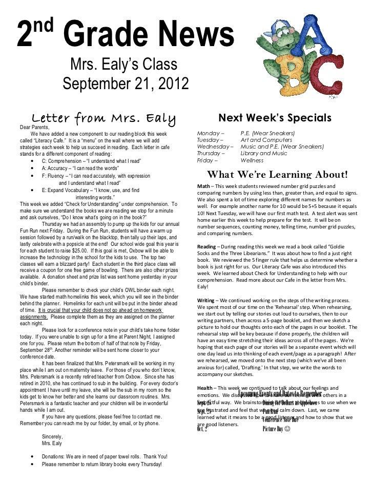 Newsletter sept 21, 2012