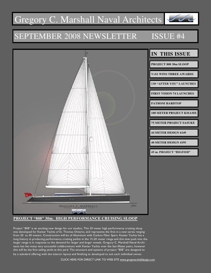 Gregory C. Marshall Naval Architects SEPTEMBER 2008 NEWSLETTER                                                            ...