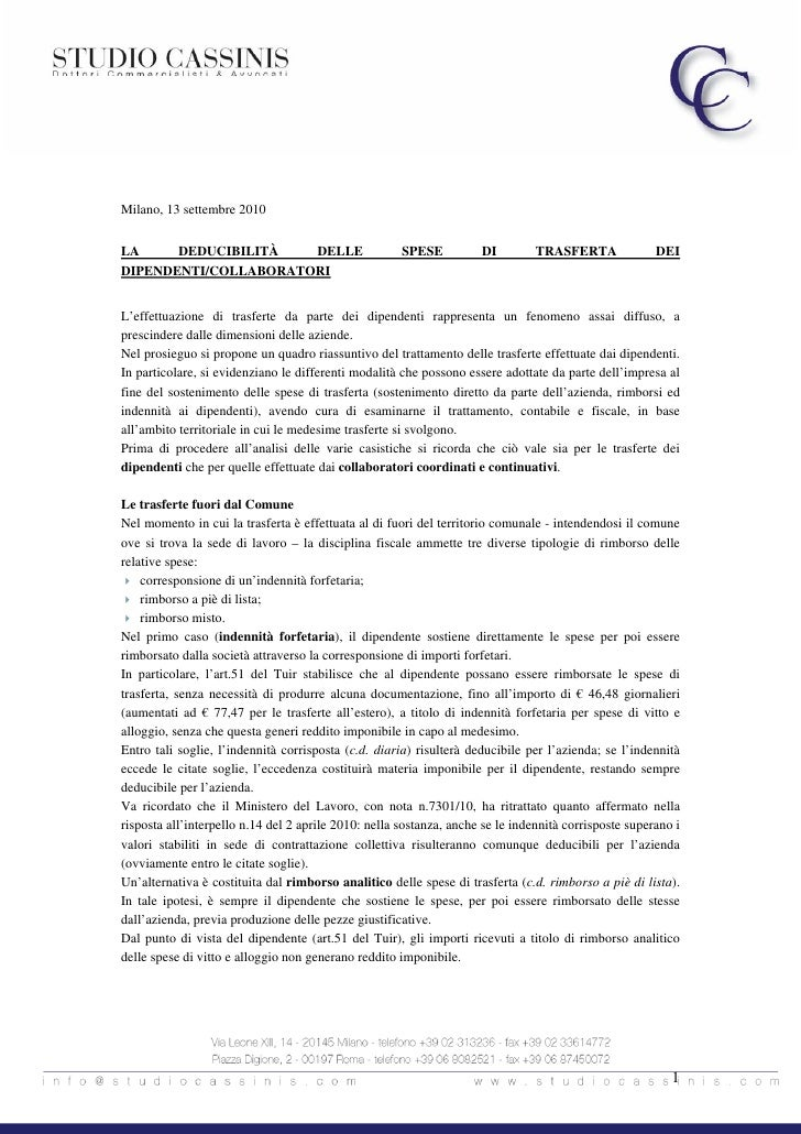 Newsletter Fiscale settembre 2010