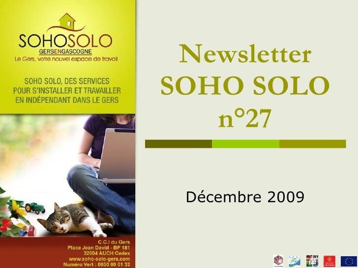 Newsletter Soho Solo N°27 Décembre 09