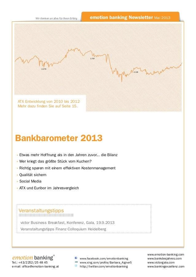 Newsletter Bankbarometer 2013