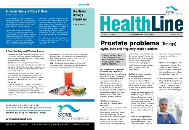 Prostate problems (Urology) Myths, facts and frequently asked questions