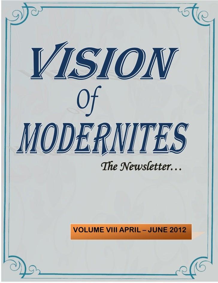 The Newsletter…VOLUME VIII APRIL – JUNE 2012