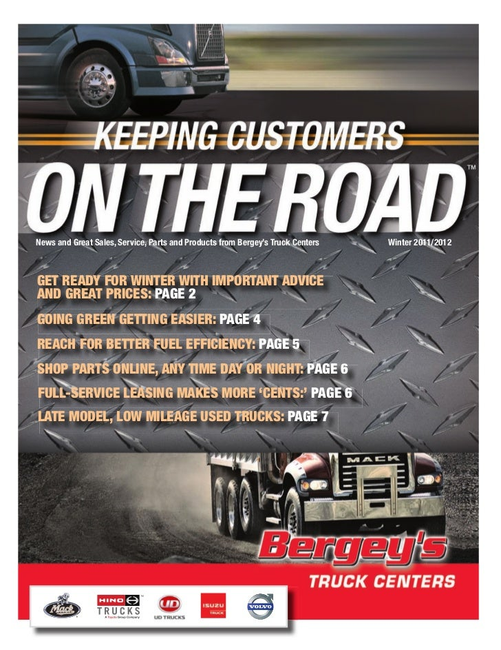 News and Great Sales, Service, Parts and Products from Bergey's Truck Centers   Winter 2011/2012Get ready for Winter WitH ...