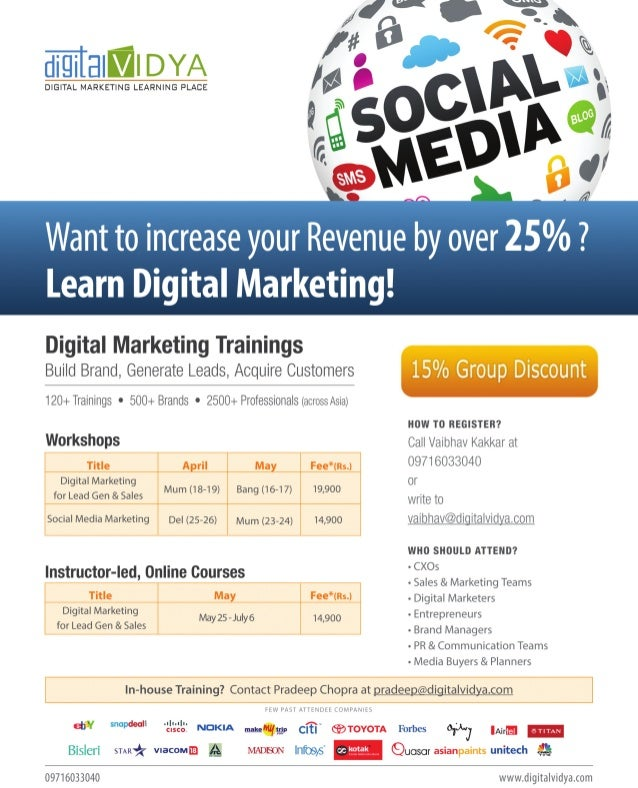 Upcoming Trainings by Digital Vidya