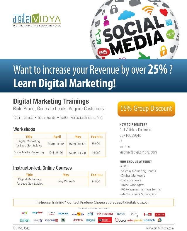 Upcoming Training by Digital Vidya