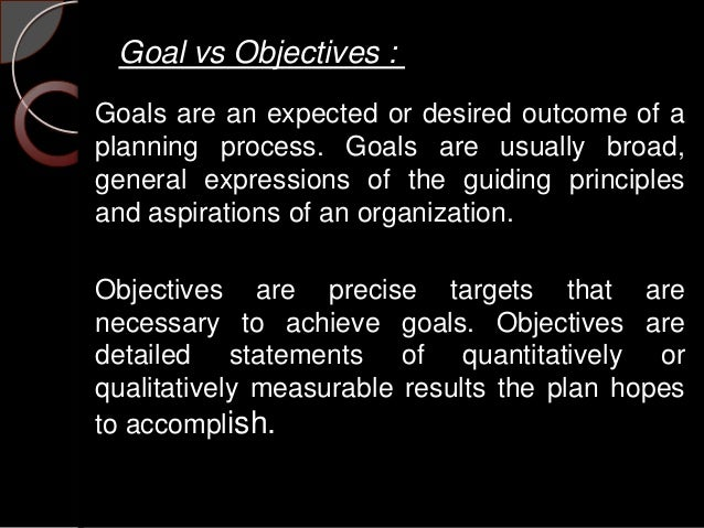 starbucks mission objective and goals Values shared principles, standards, and goals are the beliefs of an individual or group, and in this case the organization, in which they are emotionally invested the starbucks mission statement describes six guiding principles that, as you can see.