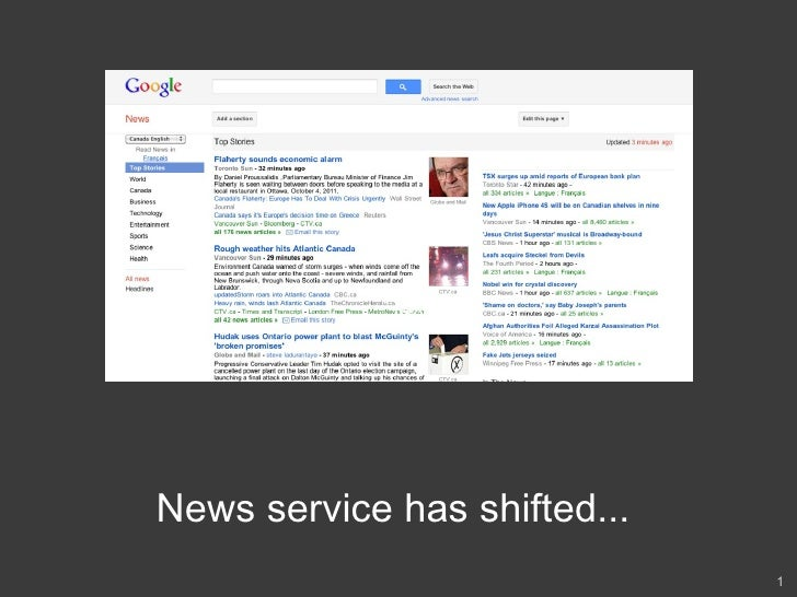 Text Text Text News service has shifted...