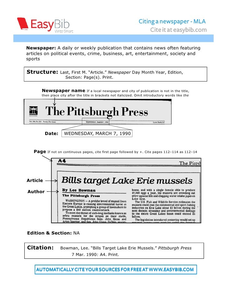 How to Cite a Newspaper Online in MLA