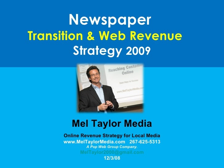 Newspaper Transition Strategy 2009