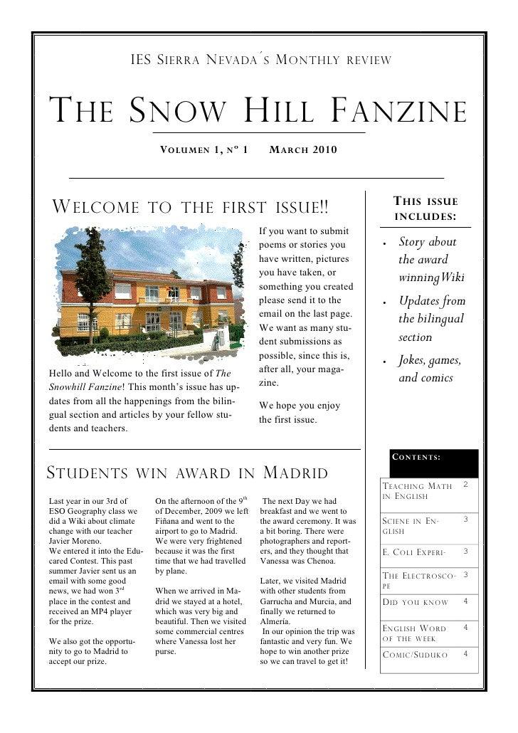 The Snow Hill Fanzine 1