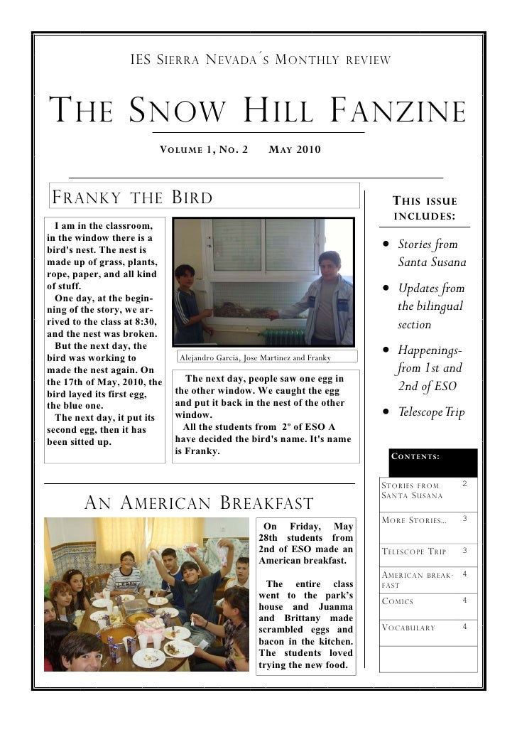 The Snow Hill Fanzine 2
