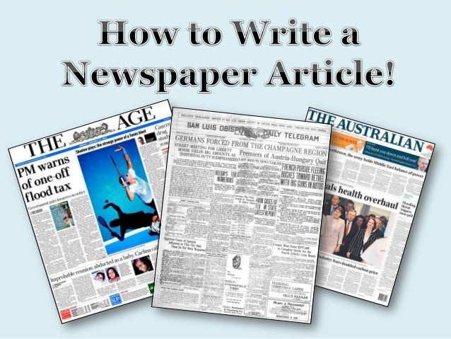 How to write a news paper report