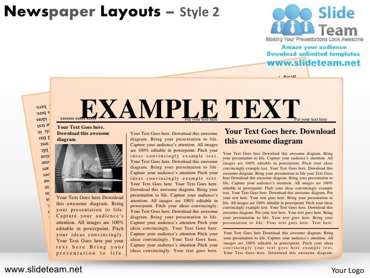 Newspaper Powerpoint Template Mandegarfo